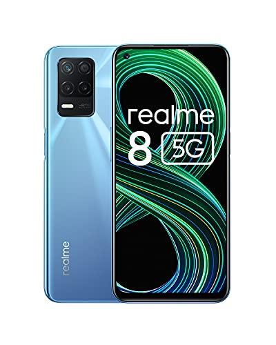 """Realme 8 5G, Azul, 128 GB, 6 GB, 6.5"""" FHD+, Dimensity 700, 5000 mAh, Carga rápida 30 W, Android"""
