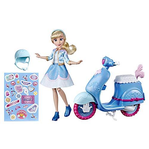 Disney Princess Muñeca Cenicienta Y Scooter, Multicolor, (Hasbro