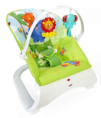 Fisher-Price - Hamaca confort y diversión - color verde- juguetes bebe - (Mattel CJJ79)