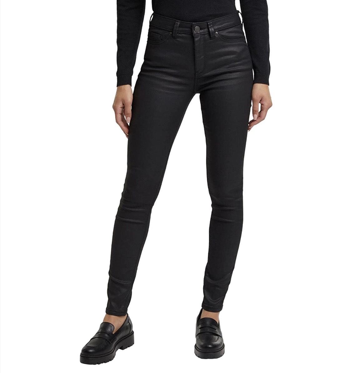 Pantalón efecto piel Esprit mujer talla 34W/32L (44 largo normal) Verde a 13,82€.