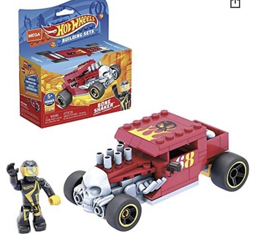 Mega Construx Hot Wheels Bone Shaker Coche de juguete de bloques de construcción