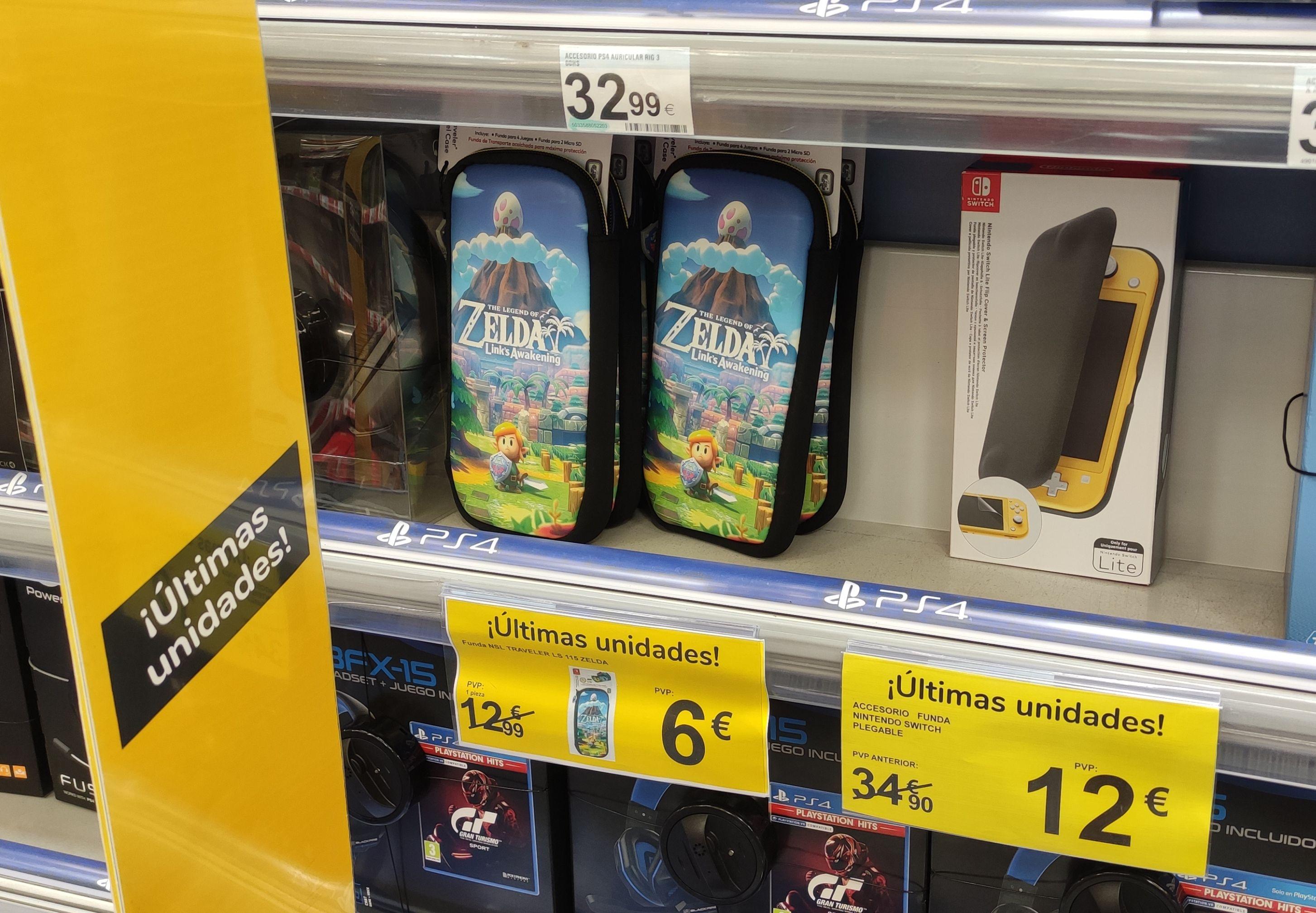 Funda Nintendo Switch Zelda por 6 € (Carrefour Burgos)