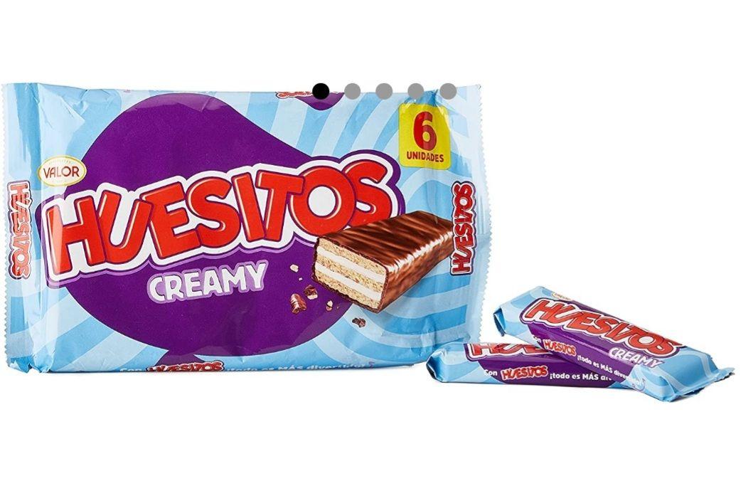 HUESITOS - Barrita Choco Con Leche Pack 6 Uds 120 Gr