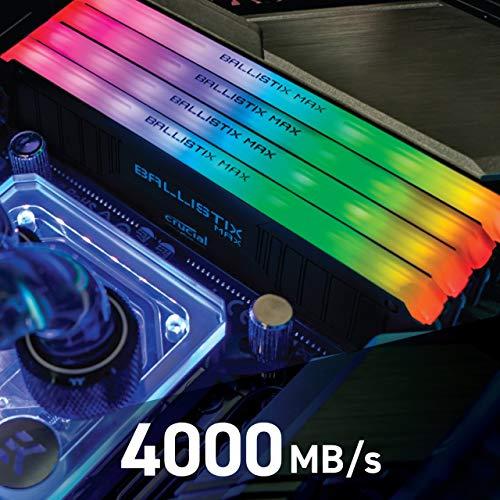 Memoria RAM Crucial 4000 MHz, DDR4, DRAM, RGB 16GB (8GBx2) CL18