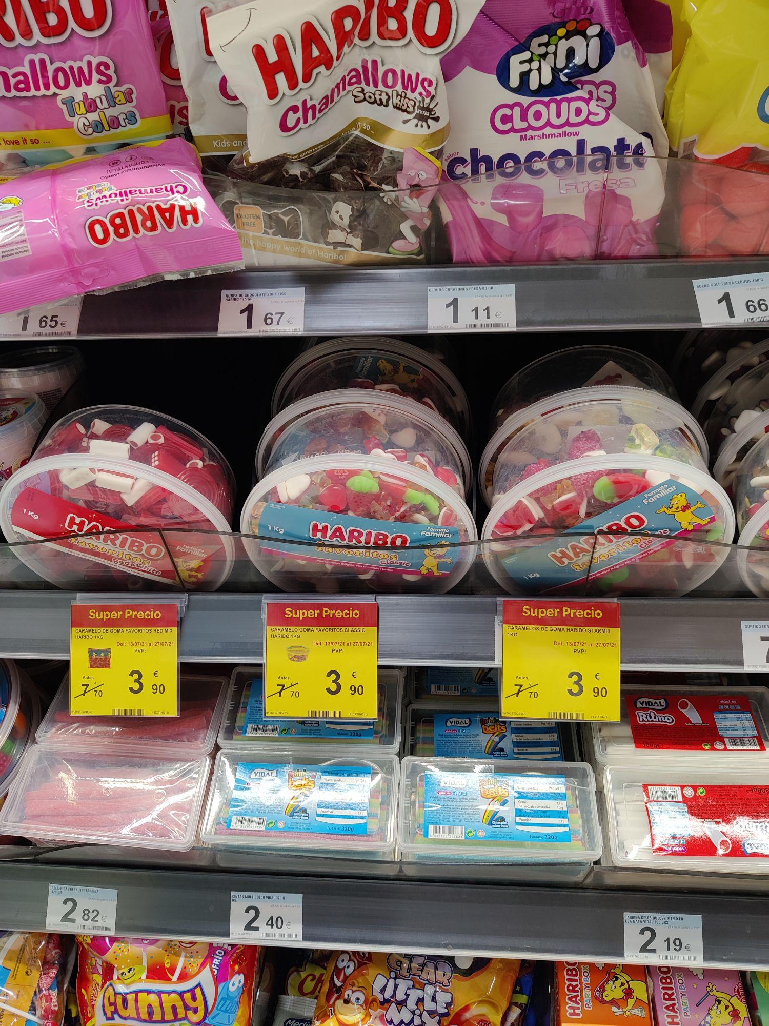 Surtidos de gominolas Haribo 1kg (Carrefour Úbeda)