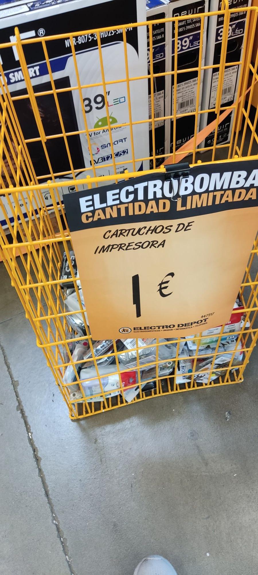 Cartuchos de tinta varios 1€ en Electro Depot de Alcalá de Henares