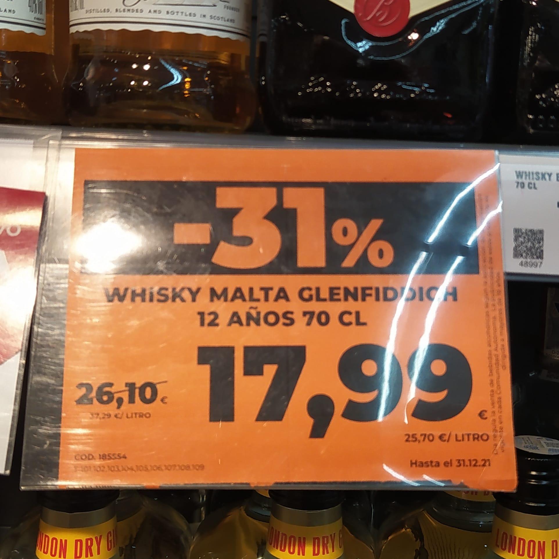 Glenfiddich 12 - Whisky Escocés Malta en Supermercados Dia