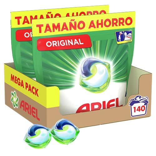 Ariel Pods Detergente Lavadora Cápsulas, 140 Lavados [Recurrente[