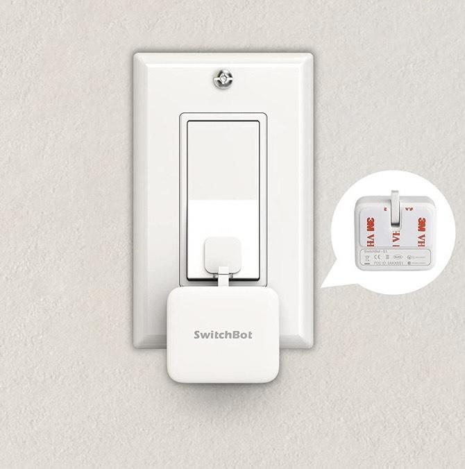 SwitchBot - Interruptor inteligente inalámbrico compatible con Alexa, Google Home, HomePod, IFTTT
