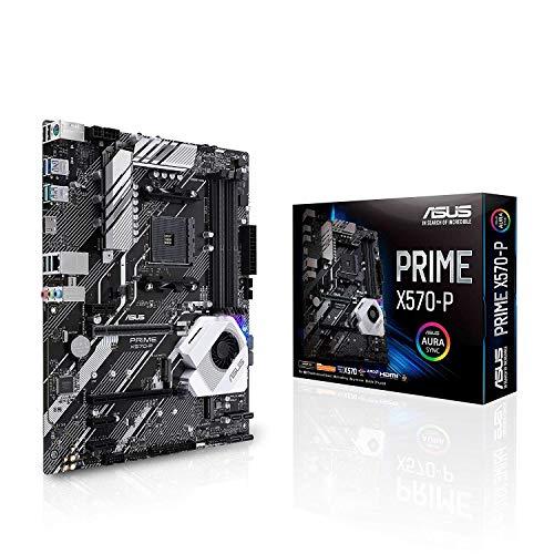 ASUS PRIME X570-P - ATX AMD AM4 con PCIe 4.0, 12 etapas de potencia DrMOS, DDR4 4400MHz, dos M.2, HDMI, SATA 6 Gb/s y USB 3.2 Gen. 2