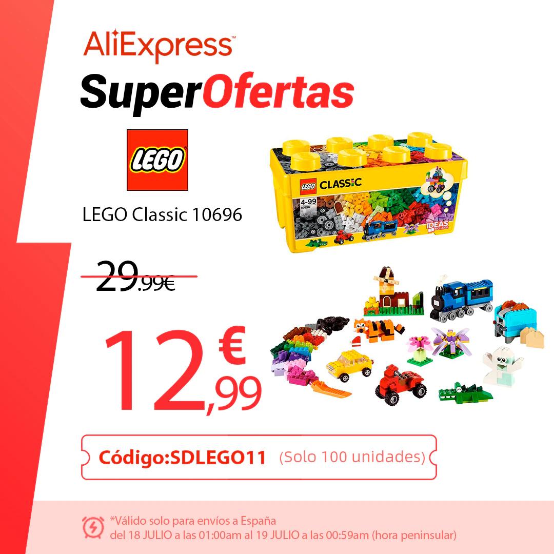 Lego caja ladrillos desde España!!!