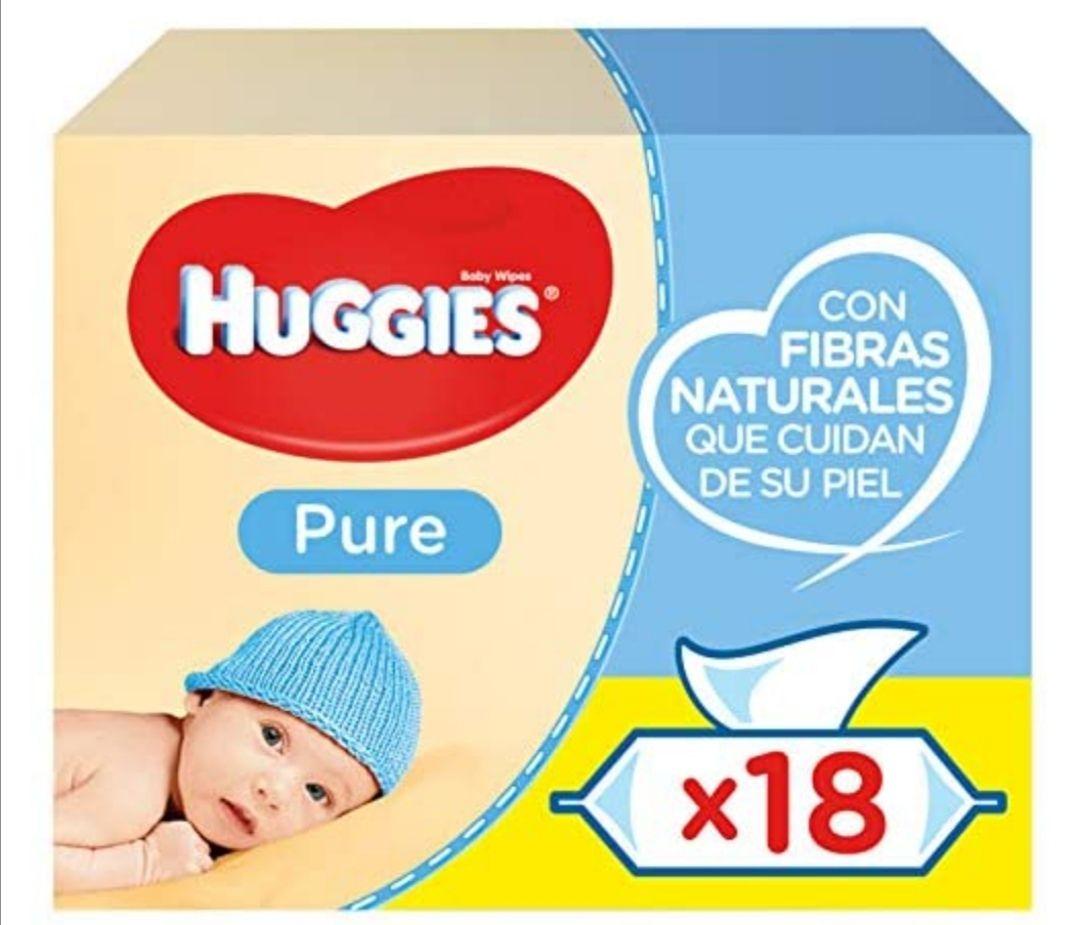 Toallitas huggies pure 18 paquetes de 56 unidades (1008 Toallitas) (precio con compra recurrente)