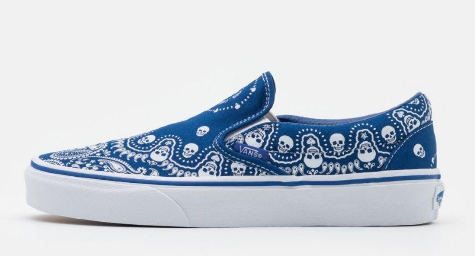 Zapatillas vans azules calavera
