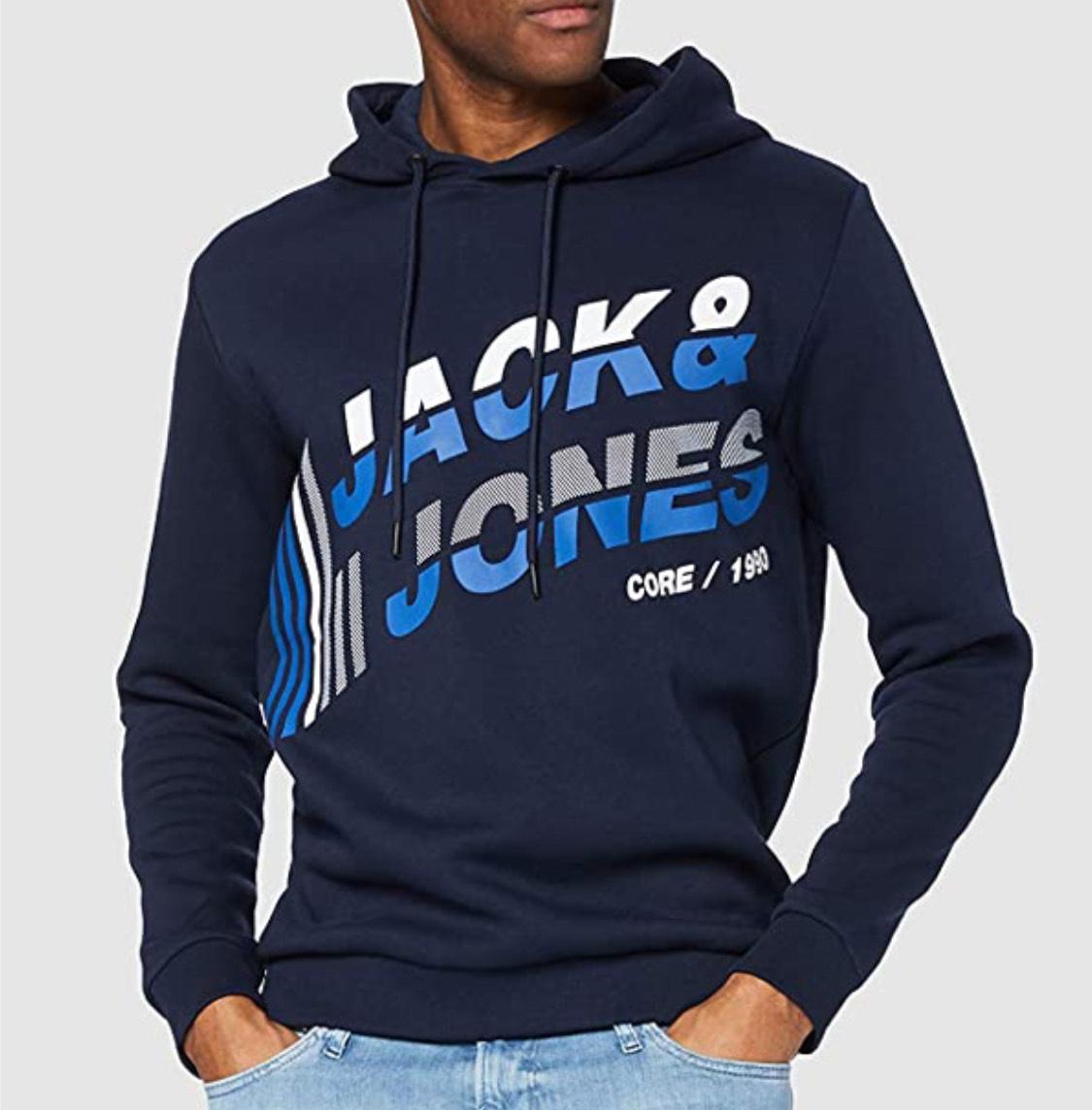 Sudadera capucha Jack & Jones adulto talla L (M a 12,02€)