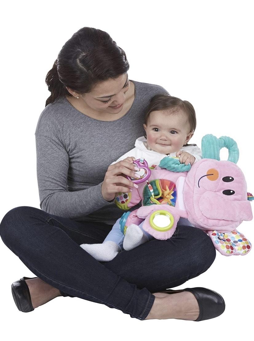 Playskool Fold 'n Go - Juguete de Peluche para bebés de 3 Meses en adelante, diseño de Elefante,