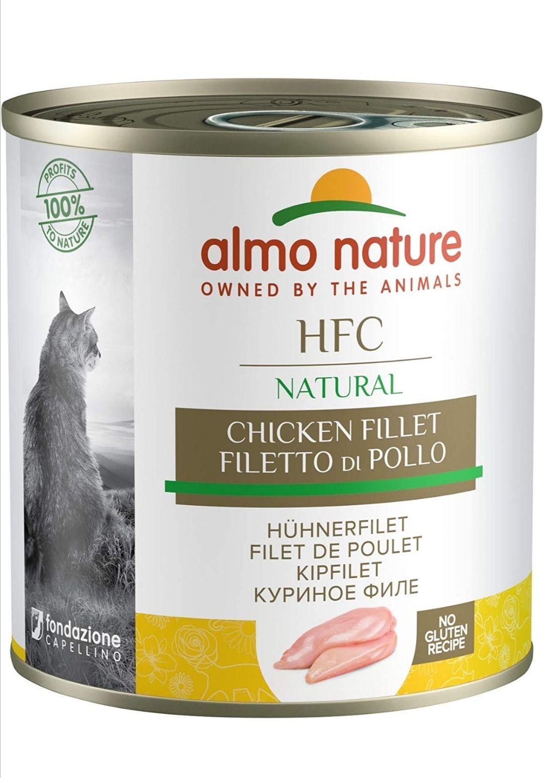Comida de michis Almo Nature HFC Natural - Filete de Pollo (Paquete de 12 x 280 g)