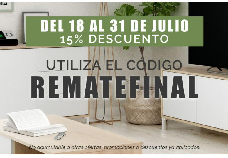 15% de descuento en mobiliario