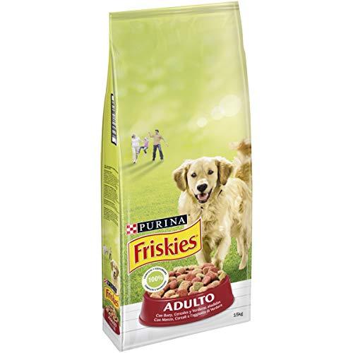 Pienso para Perro Adulto Purina Friskies Buey, Cereales y Verduras 15 Kg