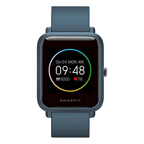 Reloj Inteligente Amazfit Bip S Lite Smartwatch Ftiness, Pantalla Transflectiva Duración de la batería 30 días, Monitoreo del sueño