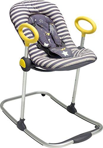 Hamaca para Bebés y Niños Up & Down, Ajustable con una Simple Presión, 4 Alturas, 3 Inclinaciones, Reductor de Bebé, Ultracómoda, Gris
