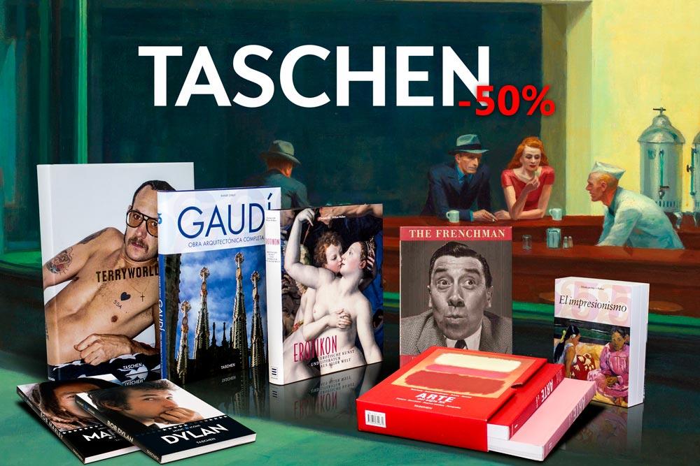 Libros de arte, fotografía y música en ediciones de lujo de la prestigiosa editorial TASCHEN. 50%