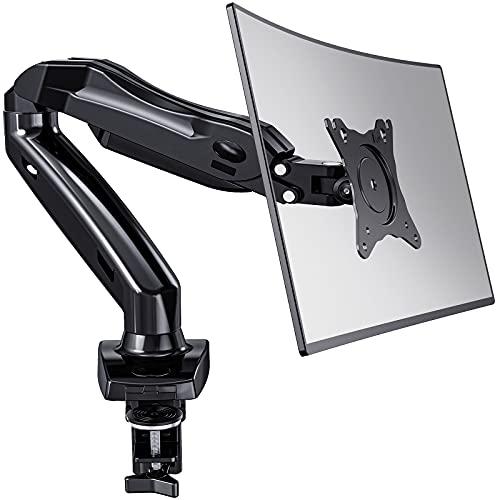 Brazo Monitor LED de 13-27 '', Gas Giratorio de 360°, 2 Métodos de Montaje Opcionales, Soporte VESA 75-100 mm y Peso 2-6.5 kg