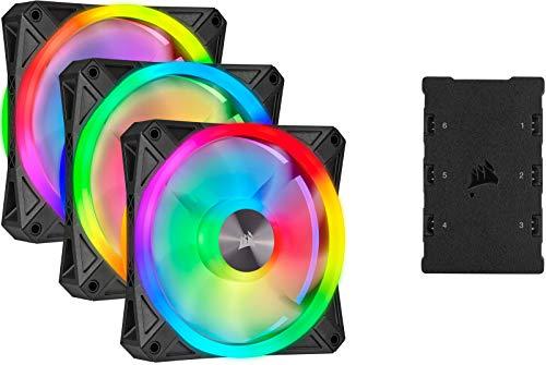 Corsair iCUE QL120 RGB, Ventilador LED RGB de 120 mm, Direccionables Individualmente, De Hasta 1500 RPM
