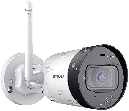 Cámara de Vigilancia WiFi Exterior 1080P con 4.5dBi Anterna Externa, IP67 Visión Nocturna de 30m, Detección de Movimiento, Work with Alexa
