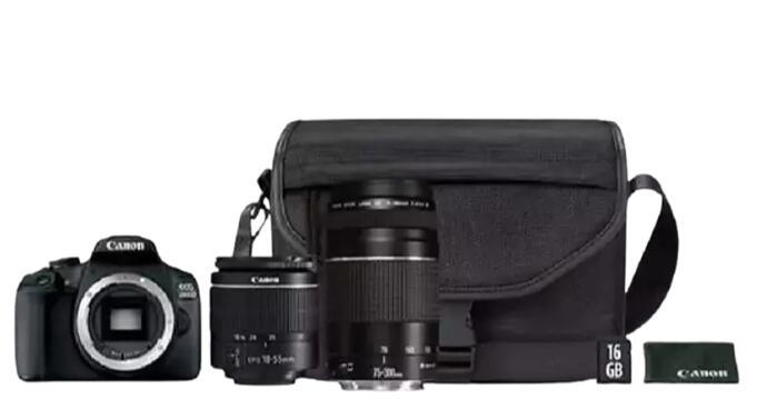 Cámara Réflex Canon EOS 2000D + 2 objetivos