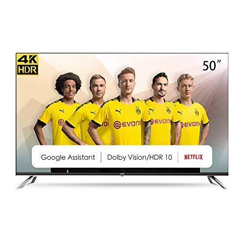 "CHiQ Televisor Smart TV LED 50"", Resolución 4K UHD, HDR10/HLG, Android 9.0, WiFi, Bluetooth, Netflix, Prime Video, HDMI, USB - U50H7A"
