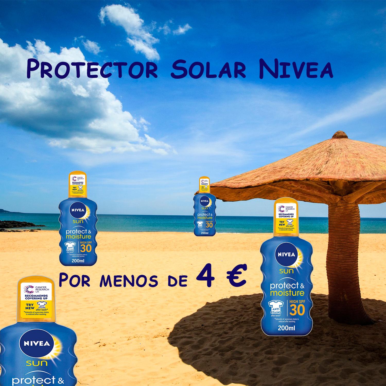 Protector solar NIVEA por menos de 4 euros (PRODUCTO PLUS)