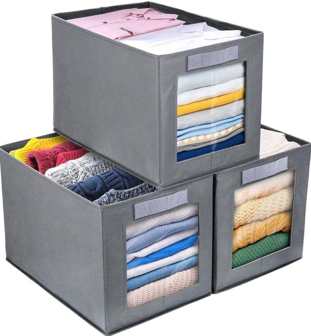 Conjunto de 3 Cajas Organizadoras Tela