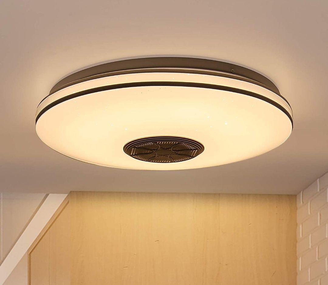 Lámpara LED RGB con mando a distancia y/o control por movil con altavoz incorporado