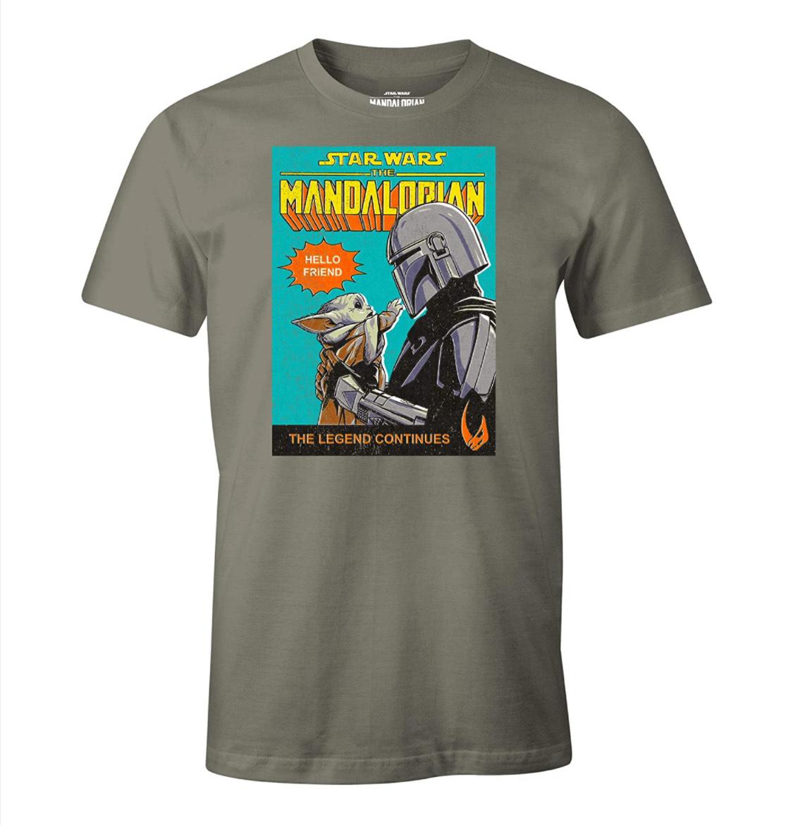 """Camiseta """"The Mandalorian"""" talla L. Con licencia oficial."""