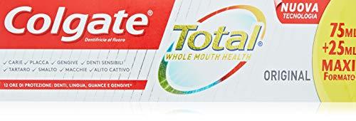 12 x Colgate Dent Colgate Total 75 ml Blanq+25 ml (0,63 € la unidad)