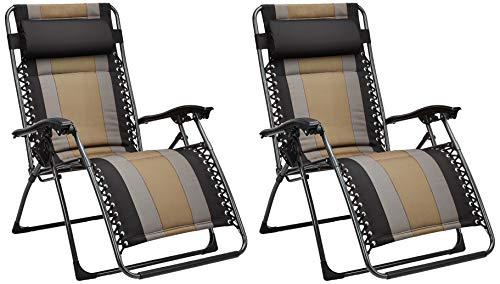 Set de 2 sillas acolchadas con gravedad cero - de color negro