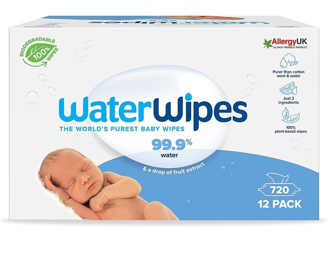 Toallitas de bebé WaterWipes Biodegradables