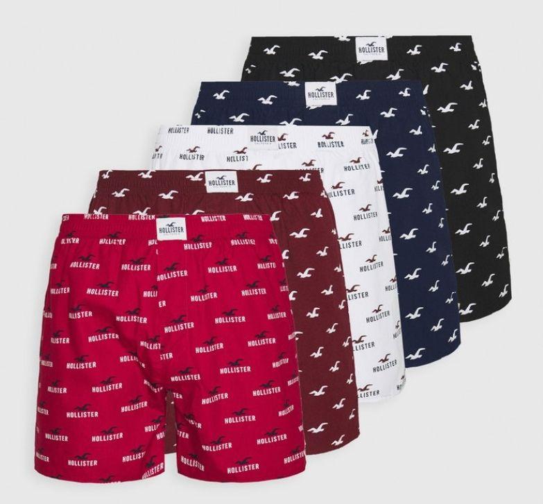 Pack de 5 boxer 100% algodón Hollister tallas S, M y L