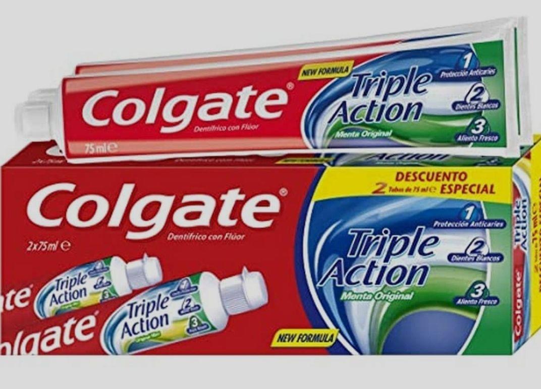 Colgate Triple Action Dentífrico, 2 x 75ml