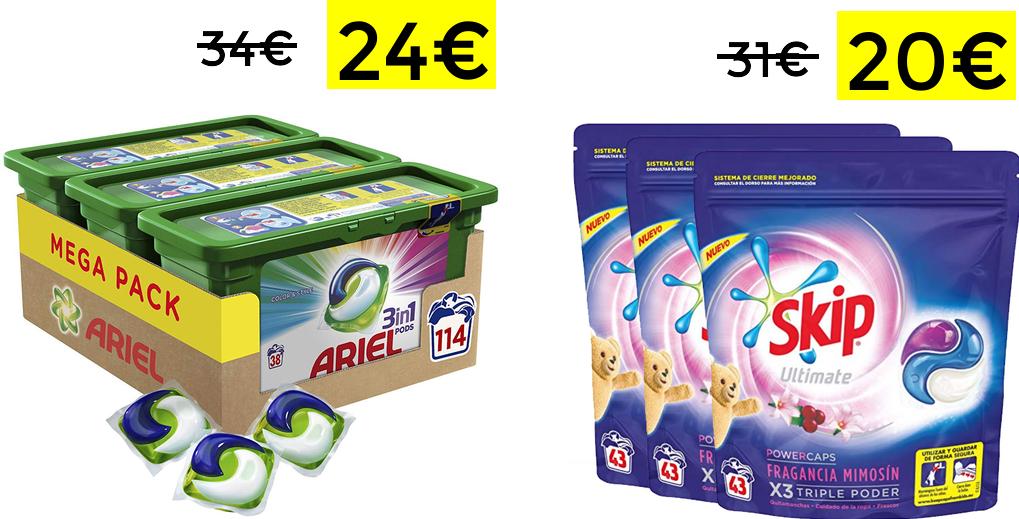 114 Ariel PODs 3en1 solo 26€