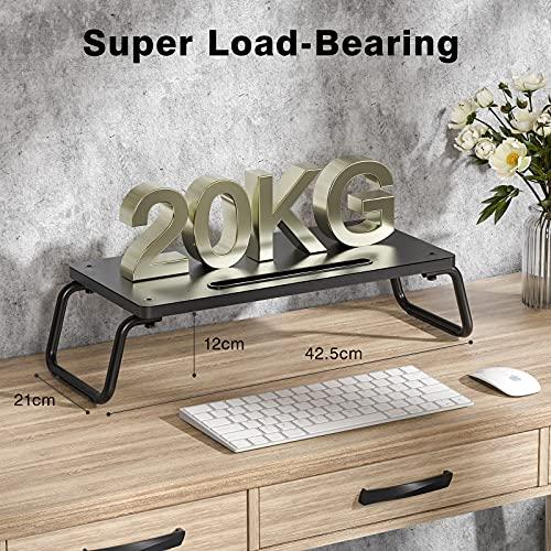 Soporte de monitor de madera de alta calidad color negro para escritorio
