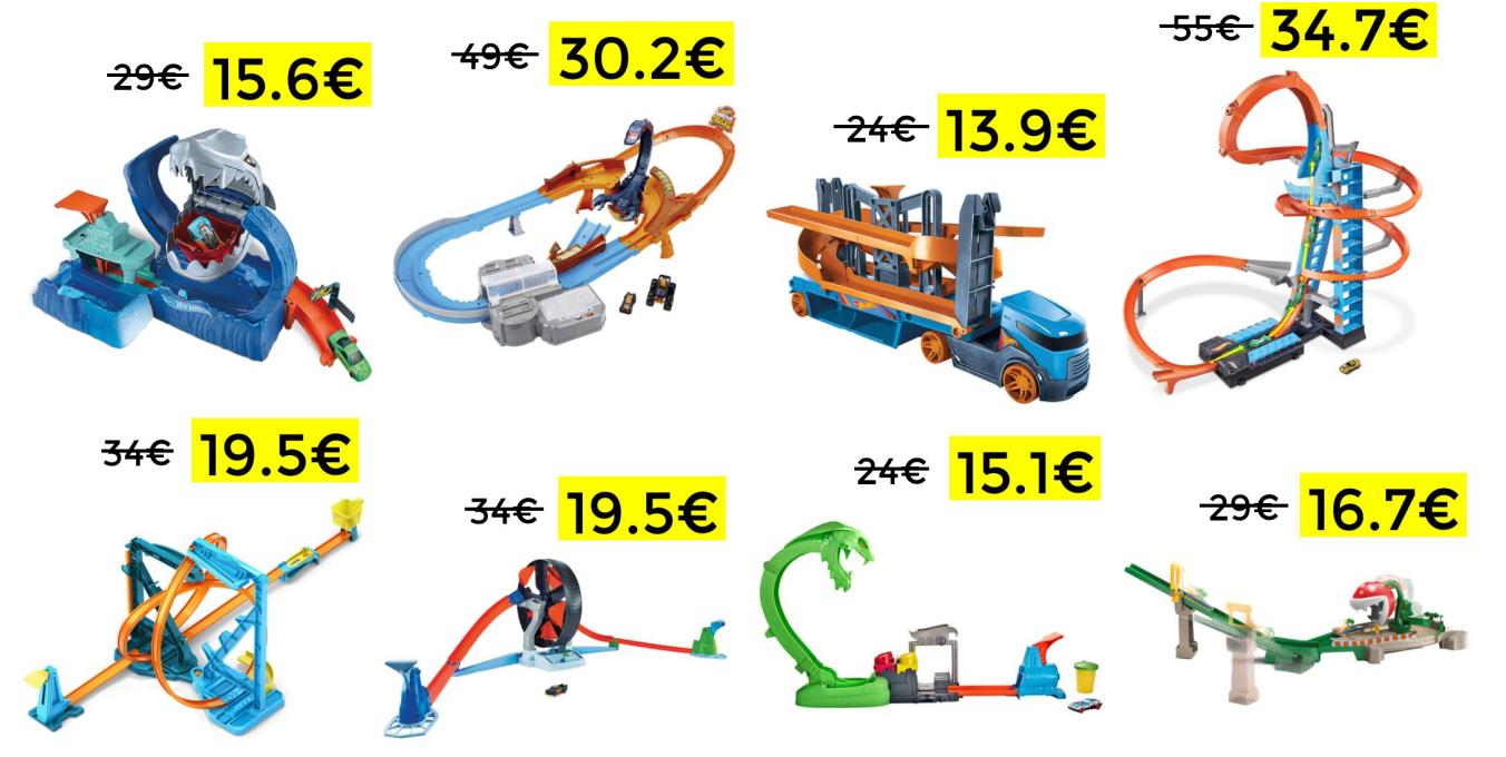Bajada de precio en Hot Wheels + 20% EXTRA