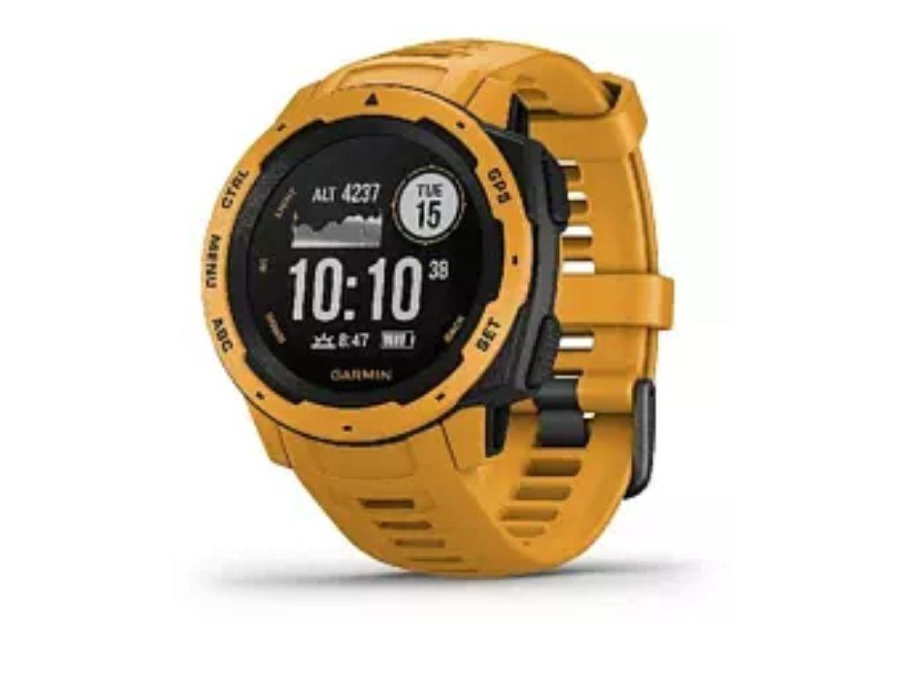Reloj deportivo - Garmin Instinct 010-02064-03, 45 mm, GPS, Bluetooth, ANT+, 10 ATM, Amarillo