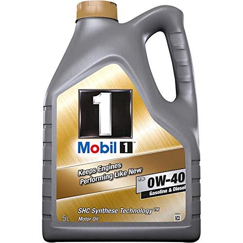 Mobil 1 153678 Gold - Aceite sintético para Motor, FS 0W40, 5 l