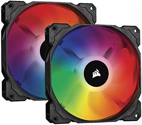 Pack 2 Corsair iCUE SP140 RGB PRO - Ventilador de chasis de 140mm, Silencioso, de Flujo de aire elevado)