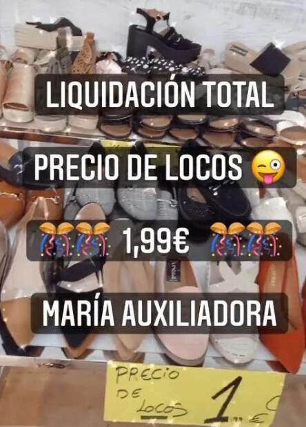Sandalias más baratas que en rastro (En calzados pajuelo, Salamanca)
