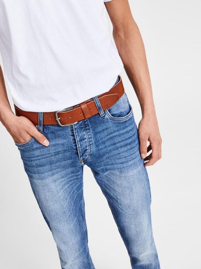 Cinturón de piel JACK & JONES [color marrón]