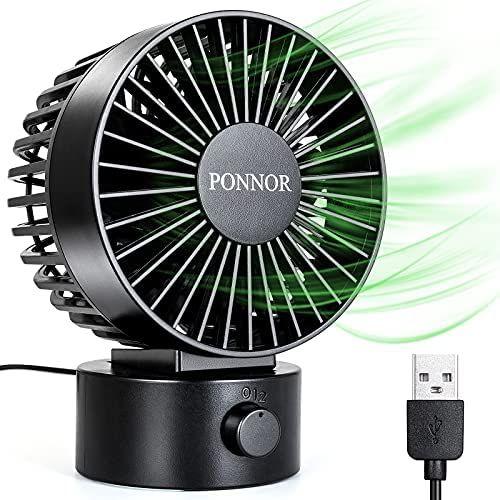 PONNOR Ventilador de USB, Mini Ventilador de Mesa