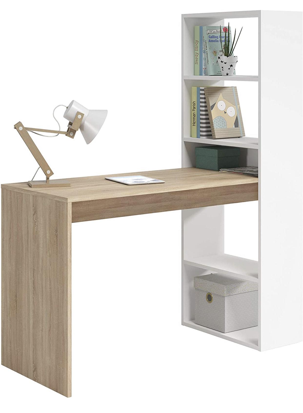 Mesa de Ordenador PC o Escritorio con Estanteria Reversible-