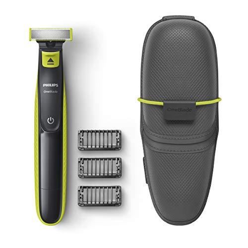 Philips OneBlade - Recortador de Barba con 3 peines y funda de viaje